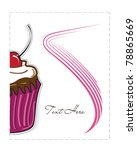a half of a cupcake    Shutterstock .eps vector #78865669