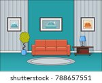 living room interior. room in... | Shutterstock .eps vector #788657551