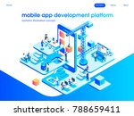 app development and startup... | Shutterstock .eps vector #788659411