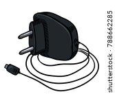 vector cartoon black charger... | Shutterstock .eps vector #788662285