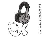 vector cartoon gray circumaural ... | Shutterstock .eps vector #788662291