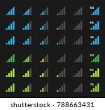 mobile signal icons  signal... | Shutterstock .eps vector #788663431