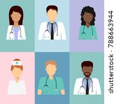 medical characters flat people. ... | Shutterstock . vector #788663944