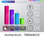 smart energy use infographic... | Shutterstock .eps vector #788668015