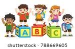 back to school. happy school... | Shutterstock .eps vector #788669605