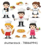 set of characters of chefs with ... | Shutterstock .eps vector #788669941