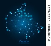 abstract map of canada with... | Shutterstock .eps vector #788676115