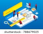 webpage building and software... | Shutterstock .eps vector #788679025