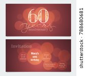 60 years anniversary invitation ... | Shutterstock .eps vector #788680681