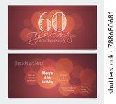 60 years anniversary invitation ... | Shutterstock .eps vector #788680681