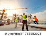 civil engineer and safety... | Shutterstock . vector #788682025