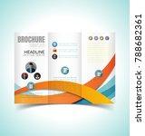 vector illustration of brochure ... | Shutterstock .eps vector #788682361