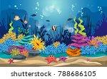 marine habitats and the beauty... | Shutterstock .eps vector #788686105