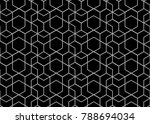 abstract geometric pattern with ... | Shutterstock .eps vector #788694034