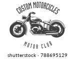 vintage motor club sign and... | Shutterstock .eps vector #788695129