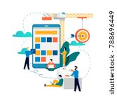 mobile application development... | Shutterstock .eps vector #788696449