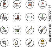 line vector icon set   airport...