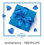 happy father's day gift box... | Shutterstock .eps vector #788701195