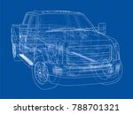 car suv drawing outline. vector ... | Shutterstock .eps vector #788701321