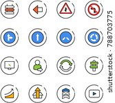 line vector icon set   sign... | Shutterstock .eps vector #788703775