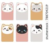 set of beautiful template card...   Shutterstock .eps vector #788704219