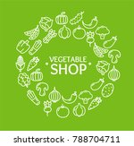 vegetables fresh food shop... | Shutterstock . vector #788704711