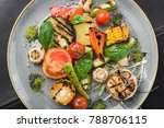 grilled vegetable tomato  corn  ...   Shutterstock . vector #788706115