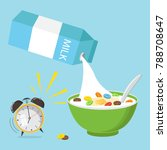 vector illustration. cereal... | Shutterstock .eps vector #788708647