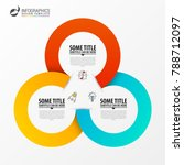 circle infographics. template... | Shutterstock .eps vector #788712097