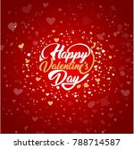 happy valentines day. greeting... | Shutterstock .eps vector #788714587