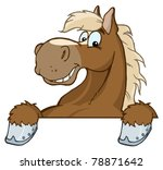 Stock vector horse mascot cartoon head 78871642
