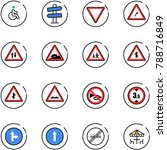 line vector icon set   disabled ... | Shutterstock .eps vector #788716849