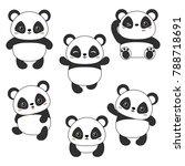 set of cartoon cute chinese... | Shutterstock .eps vector #788718691