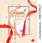grand opening card with red... | Shutterstock .eps vector #788719327