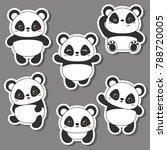 set of cartoon cute chinese... | Shutterstock .eps vector #788720005
