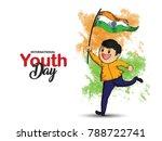 youth day   international   | Shutterstock .eps vector #788722741