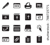 solid black vector icon set  ... | Shutterstock .eps vector #788725771