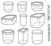 vector set of plastic container | Shutterstock .eps vector #788731741