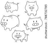 vector set of pig | Shutterstock .eps vector #788732785