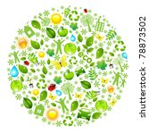 eco globe  isolated on white... | Shutterstock .eps vector #78873502