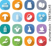 flat vector icon set   bio... | Shutterstock .eps vector #788736145