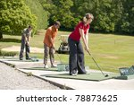 Young Golfers Practising At Th...
