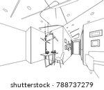 outline sketch drawing... | Shutterstock .eps vector #788737279