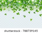 irish shamrock falling leaves... | Shutterstock .eps vector #788739145