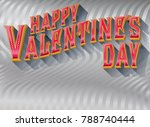 a happy valentine's day message ... | Shutterstock .eps vector #788740444