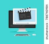 movie or online cinema on... | Shutterstock .eps vector #788740984