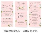 save the date card  wedding... | Shutterstock .eps vector #788741191