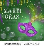 mardi gras carnival poster ... | Shutterstock .eps vector #788743711