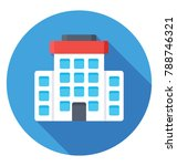 skyscraper flat colored  icon  | Shutterstock .eps vector #788746321
