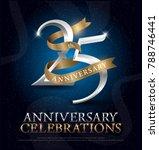 25th years anniversary... | Shutterstock .eps vector #788746441